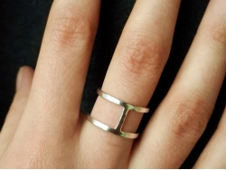 Фаланговые кольца на руку двойные из гладкого металла от Amorem