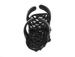 Длинное кольцо черного цвета с черными стразами