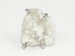 Кольцо из прозрачного белого горного хрусталя