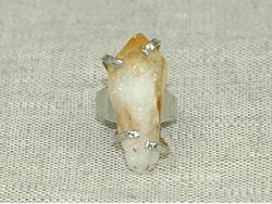 Кольцо из желтого цитрина